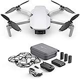 DJI Mavic Mini Combo (EU) – Drohne und Zubehör Kit, leicht und tragbar, Flugzeit: 30 Min, Übertragungsentfernung: 2 km HD-Videoübertragung, 3-Achsen-Gimbal, 12 MP, HD-Video 2,7 K