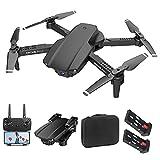 Drohne Mit Kamera 4K HD Faltbar RC Quadrocopter APP Live Übertragung Flugzeit 40 Minuten Dual Kamera Mit 2 Akkus 50Facher Zoom Headless Modus 3D-Flips Drone Höhenhaltung Für Anfänger Und Kinder