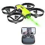 Loolinn | Drohne mit Kamera als Geschenk für Kinder - Mini Drohne Ferngesteuert, First Person View Kameradrohnen (FPV) mit Video & Fotos / 21 Minuten Flugzeit ( DREI Batterien Mitgeliefert)