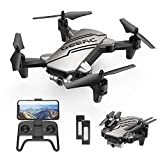 DEERC D20 Mini Drohne für Kinder mit Kamera HD 720P,Faltbar RC Quadcopter mit FPV Wlan Live Übertragung,2 Akku lange Flugzeit,Flugbahnflug,Höhenhaltung,One Key Start/Landen,Headless Modus für Anfänger