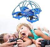 Mini Drohne für Kinder und Anfänger, RC Drone 360° Schutz, Spielzeug Drohne für Kinder, 3D-Flip, EIN-Tasten-Return, Headless Modus, 2 Batterien, Blau AT-66D