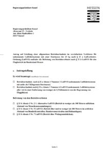 Drohnen Ausnahmegenehmigung Beispiel Antrag Hessen