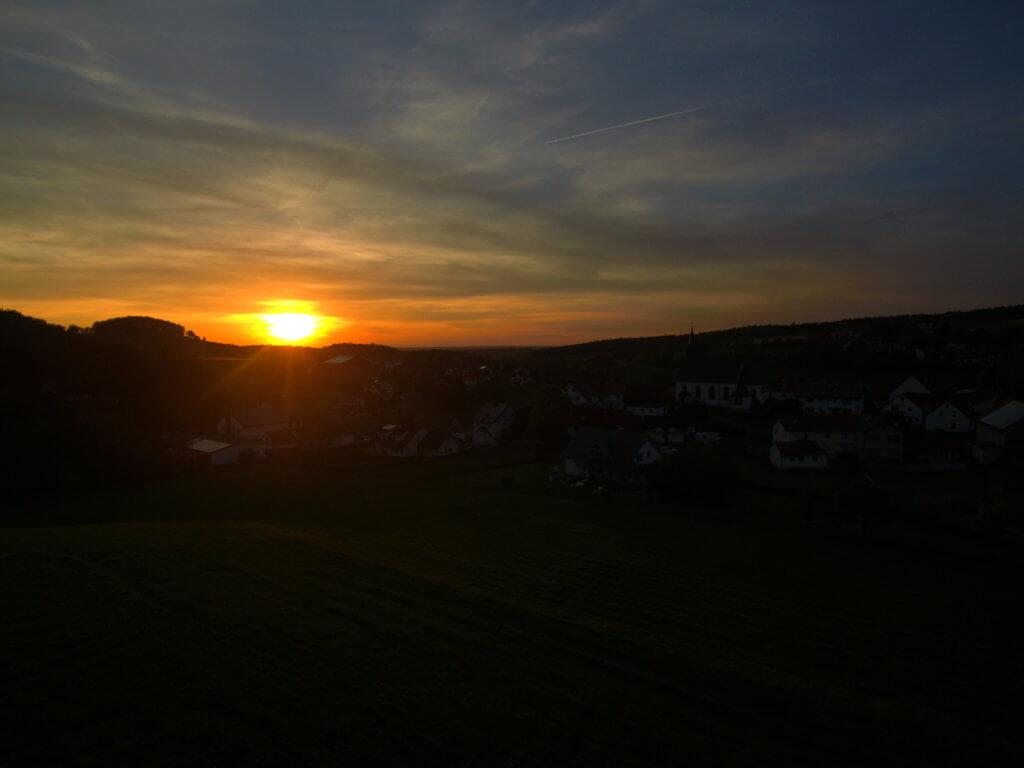 Sonnenuntergang in der Rhön bei Dipperz